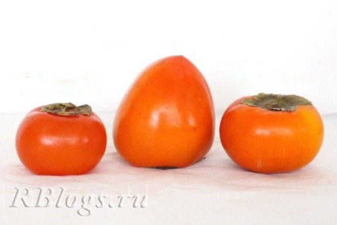 Фото плодов хурмы разной формы